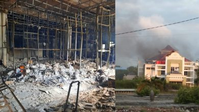 Kebakaran Gedung E Pemkab Karimun